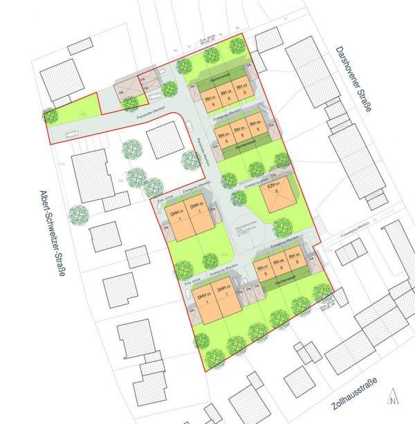 Ricardagaerten-Bedburg-Kaster-Lageplan