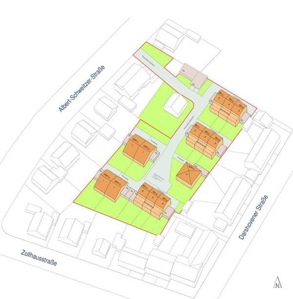 Ricardagaerten-Bedburg-Kaster-Lageplan-Isometrie